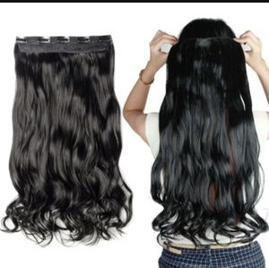 Accessories - 25 inch  5 clip ,clip in extention curly/wavy